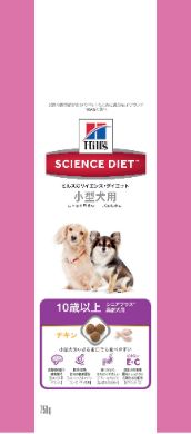 サイエンス・ダイエット シニアプラス 小型犬用 高齢犬用 750g