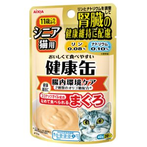 健康缶パウチ シニア猫用 腸内環境ケア 40g