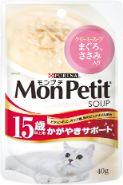 モンプチスープ(ピュアスープ) 15歳以上用 かがやきサポート まぐろ、ささみ クリーミースープ 40g