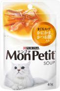 モンプチスープパウチ まぐろスープ かにかま かつお節入り 40g