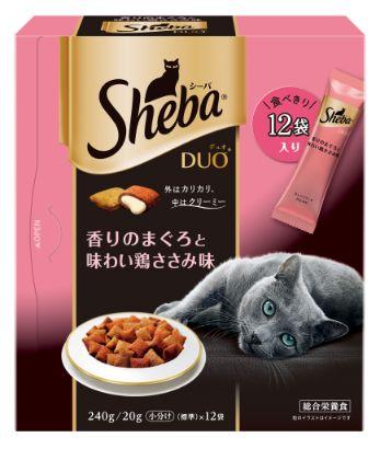 シーバ デュオ 成猫用 香りのまぐろと味わい鶏ささみ味 240g