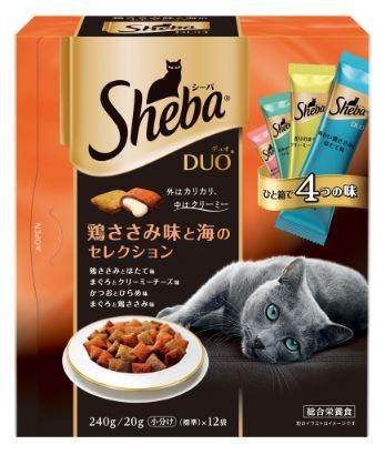 シーバ デュオ 成猫用 鶏ささみ味と海のセレクション 240g