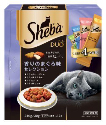 シーバ デュオ 成猫用 香りのまぐろ味セレクション 240g