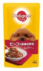 ペディグリー 成犬用 ビーフ&緑黄色野菜とレバー入り 130g