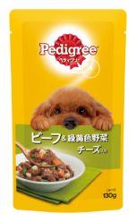 ペディグリー 成犬用 ビーフ&緑黄色野菜とチーズ入り 130g