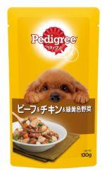 ペディグリー 成犬用 ビーフ&チキン&緑黄色野菜 130g