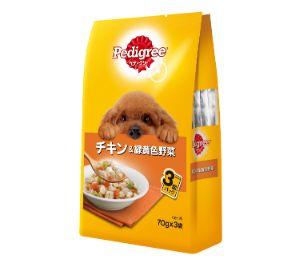 ペディグリー 成犬用 チキン&緑黄色野菜 70g×3袋
