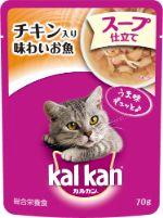 カルカン パウチ 1歳から スープ仕立て チキン入り 味わいお魚 70g