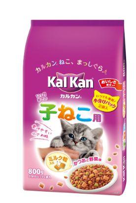 カルカン ドライ 12か月までの子ねこ用 かつおと野菜味ミルク粒入り 800g