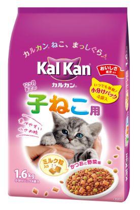 カルカン ドライ 12か月までの子ねこ用 かつおと野菜味ミルク粒入り 1.6kg