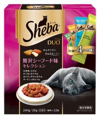 シーバ デュオ 成猫用 贅沢シーフード味セレクション 240g