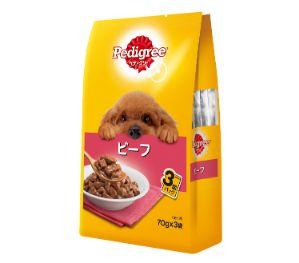 ペディグリー 成犬用 ビーフ 70g×3袋