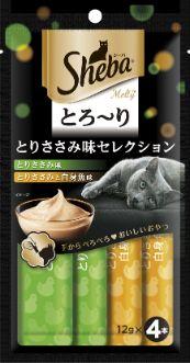 シーバ とろ〜り メルティ とりささみ味セレクション 48g(12g×4P)