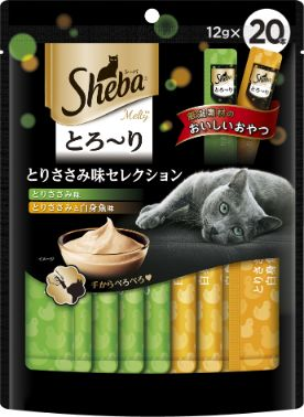 シーバ とろ〜り メルティ とりささみ味セレクション 12g×20個