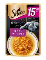 シーバ アミューズ 15歳以上 贅沢シーフードスープ 蟹かま、サーモン添え 40g