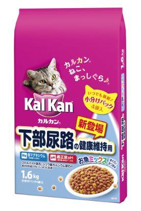 カルカン ドライ 下部尿路の健康維持用 お魚ミックス まぐろとかつお味 1.6kg