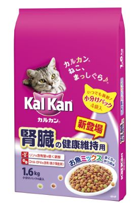 カルカン ドライ 腎臓の健康維持用 お魚ミックス まぐろとかつお味 1.6kg