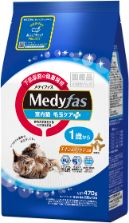 メディファス 室内猫 毛玉ケアプラス 1歳から チキン&フィッシュ味 470g(235g×2)
