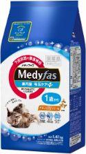 メディファス 室内猫 毛玉ケアプラス 1歳から チキン&フィッシュ味 1.41kg(235g×6)