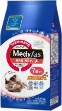 メディファス 室内猫 毛玉ケアプラス 7歳から チキン&フィッシュ味 1.41kg(235g×6)