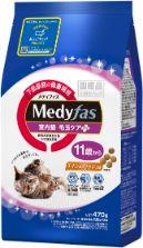 メディファス 室内猫 毛玉ケアプラス 11歳から チキン&フィッシュ味 470g(235g×2)