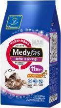 メディファス 室内猫 毛玉ケアプラス 11歳から チキン&フィッシュ味 1.41kg(235g×6)