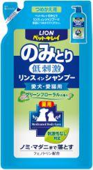 ペットキレイ のみとりリンスインシャンプー愛犬・愛猫用 グリーンフローラルの香り つめかえ用 400ml