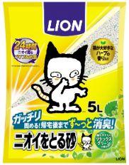 LION ニオイをとる砂 リラックスグリーンの香り 5L