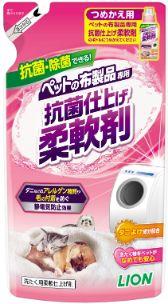 ペットの布製品専用 抗菌仕上げ柔軟剤 つめかえ用 300g