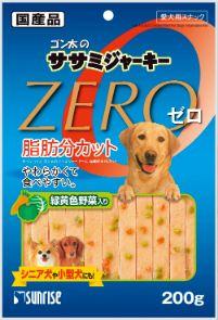 ゴン太のササミジャーキーZERO 緑黄色野菜入り 200g