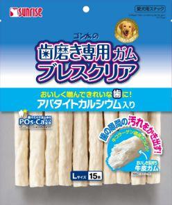 ゴン太の歯磨き専用ガム ブレスクリア アパタイトカルシウム入り L15本