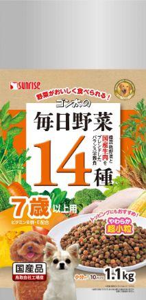 ゴン太の毎日野菜14種 7歳以上用 1.1kg
