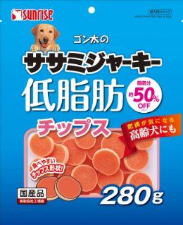 ゴン太のササミジャーキー低脂肪 チップス280g