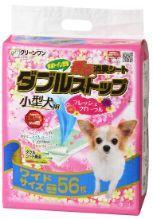 クリーンワン 香る消臭シート ダブルストップ小型犬用 フレッシュフローラルの香り ワイドサイズ 56枚